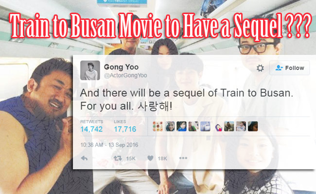 Leading Actor of Train to Busan Announces Sequel of the Movie