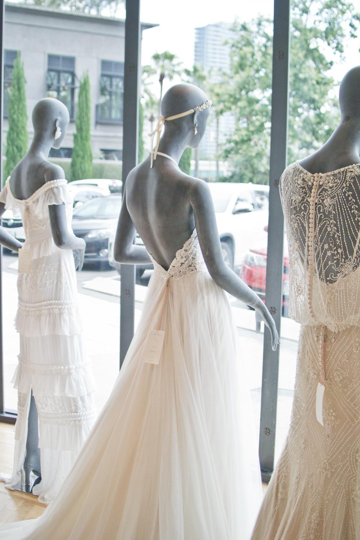 BHLDN Wedding dress on model