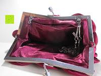 öffnen: Sumolux Elegante Handtasche Tasche Partytasche Abendtasche Tasche für Frauen Tasche für Damen Weinrot