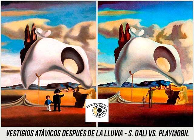 Cuadro-Vestigios-Atávicos-Después-de-la-Lluvia-de-Dali-Hecho-con-Playmobil