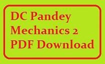 D.C.Pandey Physics Mechanics part 2 free PDF download.