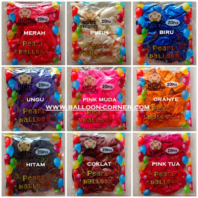 Balon Latex Metalik 12 Inch (Isi 20 Pcs / Pack)