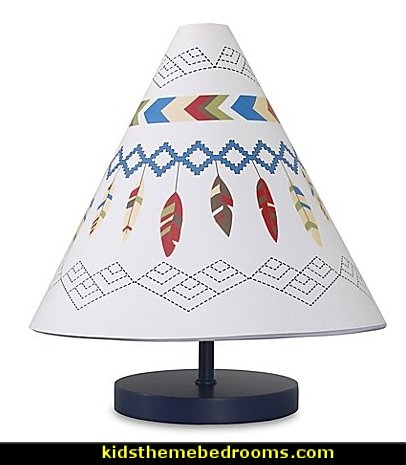 Teepee Tribal Colorful and Geometric Lamp