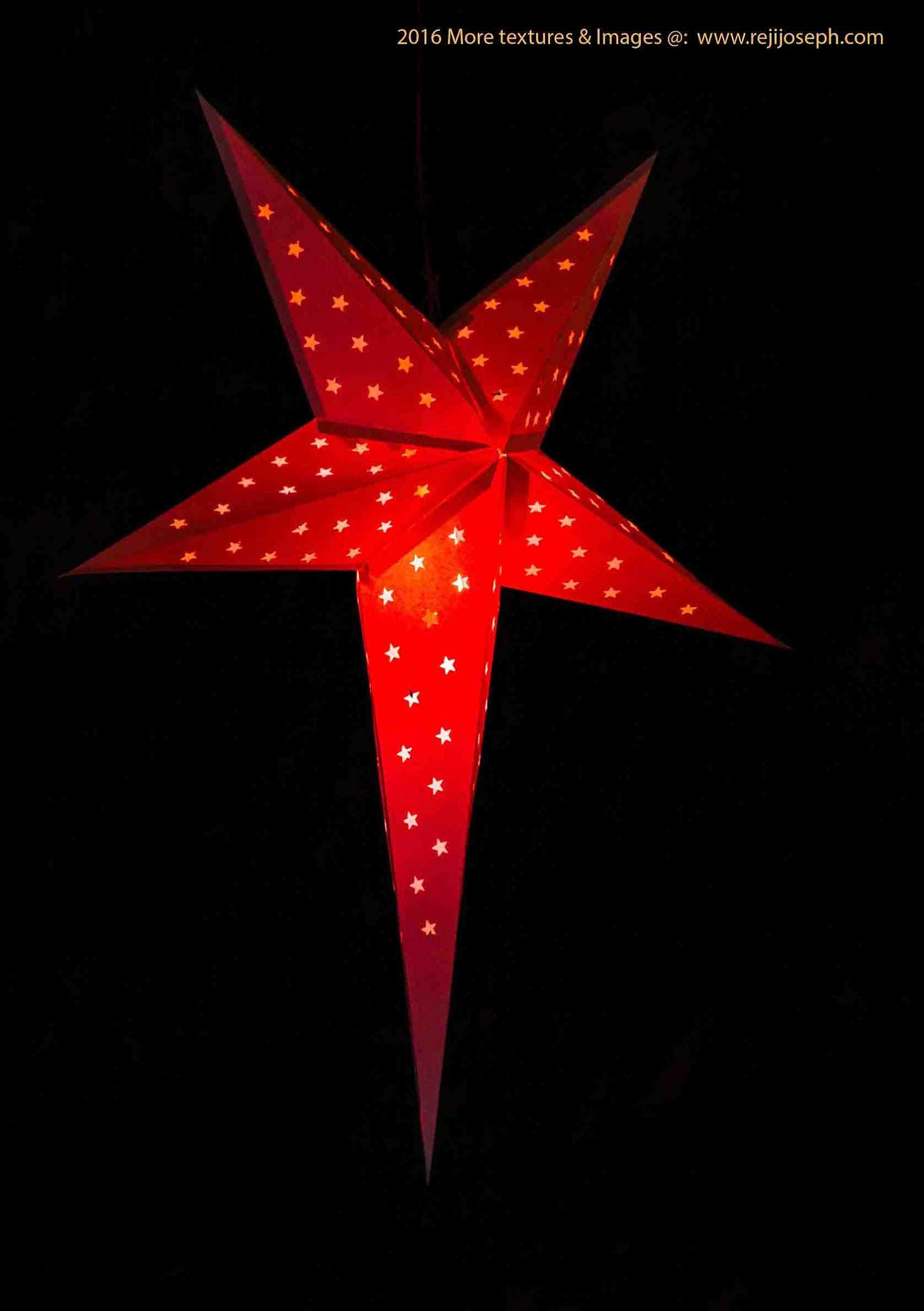 Christmas star Illumination light decoration 00002