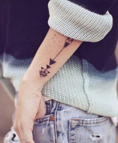 geometrik bilek dövmeleri geometric wrist tattoos 23