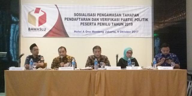 Pengawasan Pendaftaran Parpol Peserta Pemilu 2019, Ini Fokus Bawaslu