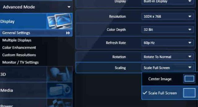 Cara Mengatasi Layar Monitor Laptop Terpotong dan Kebesaran vga intel