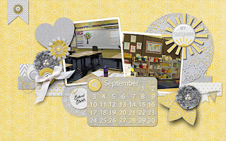 Ginger Scraps August 2017 Desktop Challenge and Freebie and My Sunshine by Miss Mis Designs