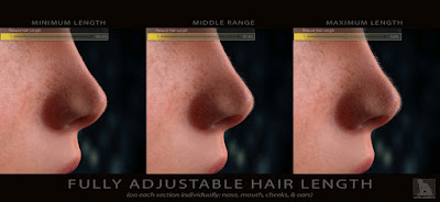 Peach Fuzz! Facial Vellus Hair for Genesis 3 Female