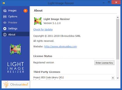 Screenshot Light Image Resizer 5.1.2.0 Full Version