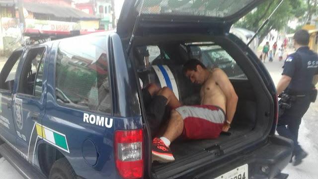 ROMU de Santo André detém traficante no CESA (Centro Educacional de Santo André) Cata Petra