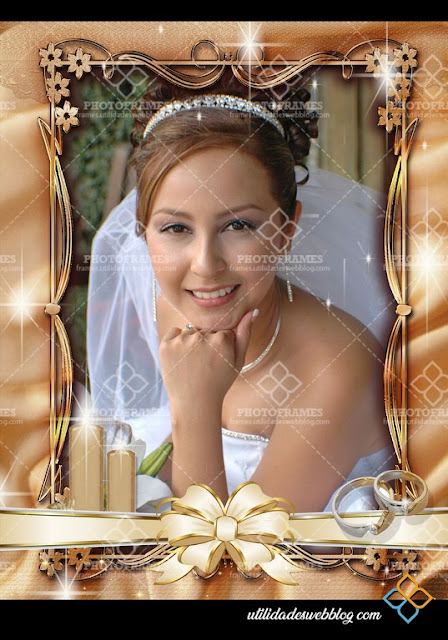 ribbon wedding png picture frame