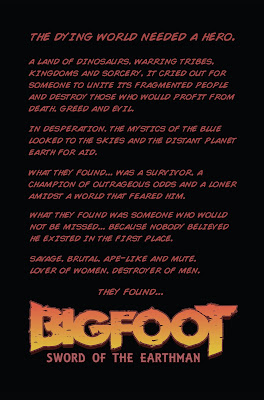 bigfoot sword of the earthman action lab entertainment issue one bigfoot comic graphic novel barbarian comic inside cover