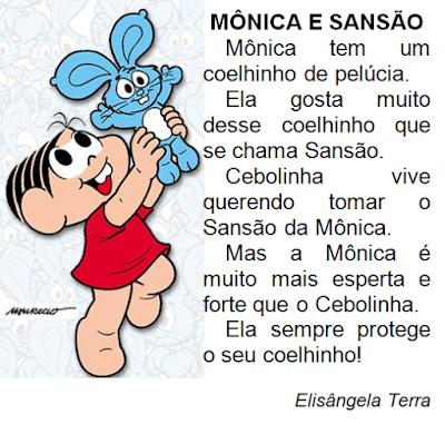 Texto MÔNICA E SANSÃO, de Elisângela Terra