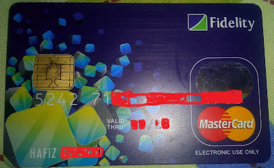 My Fidelity Bank Dollar Debit Mastercard Card
