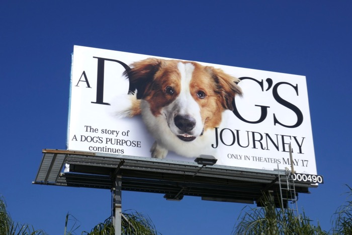 A Dogs Journey movie billboard