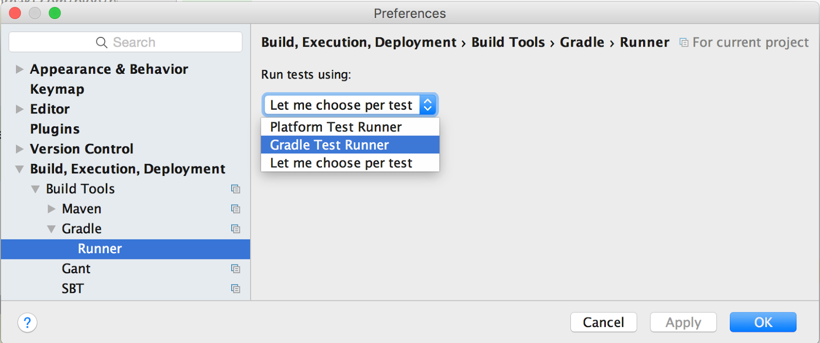 Gradle Goodness: Configure IntelliJ IDEA To Use Gradle As Testrunner