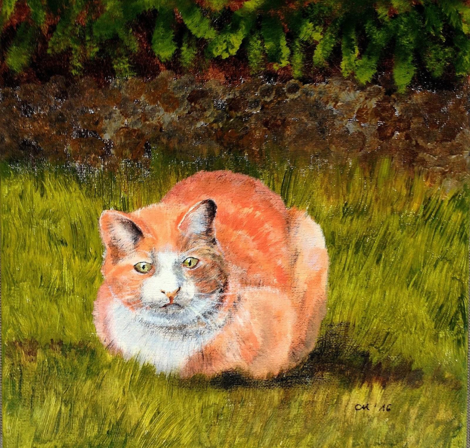 Daily Painting Carola Mehring 20 2 2016 Gefahr lauert an der