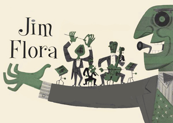 Jim Flora's retro style 16 free fonts
