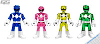 Imaginext Power Rangers Sentai super heroes action figures
