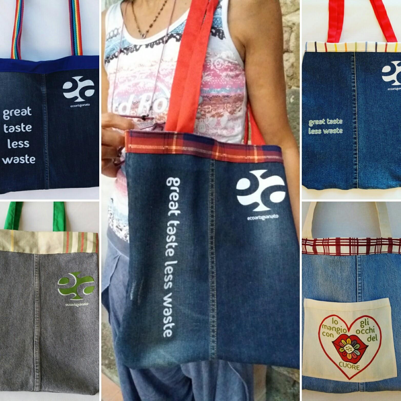 Ecoartigianato   Riciclo creativo grembiuli wow in jeans per ... 5a7a2701fdf
