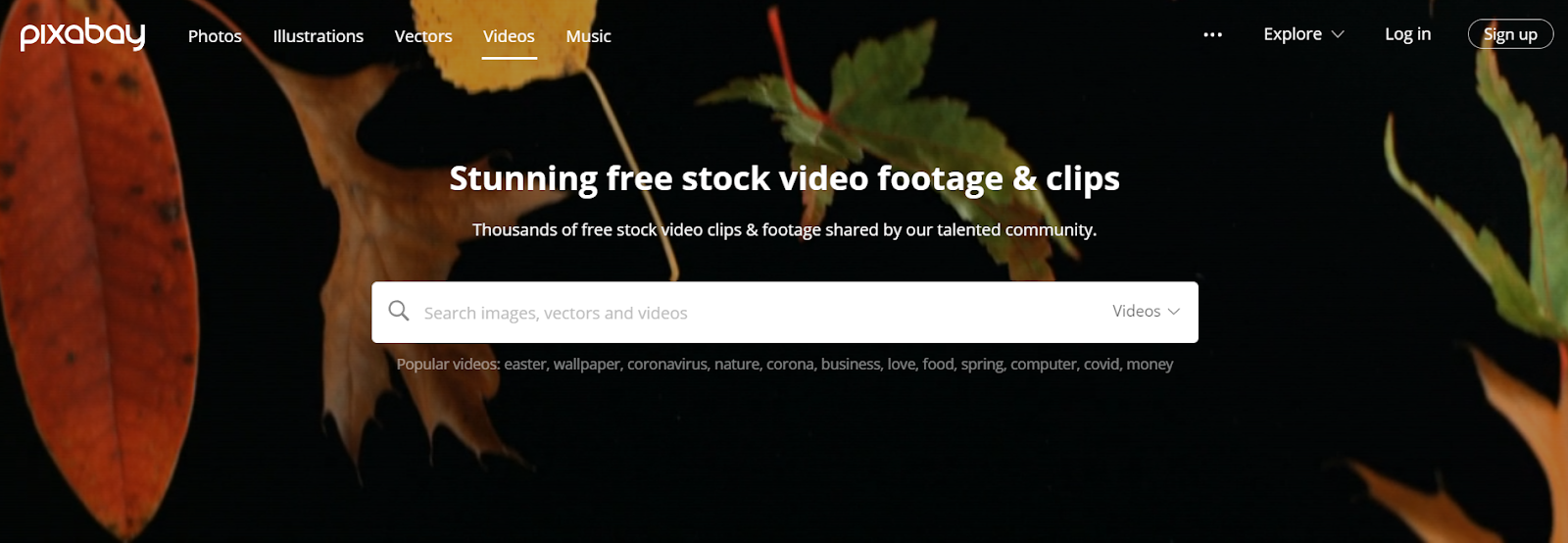 free stock video webiste is pixabay