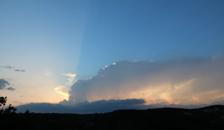 A dramatic divided sky
