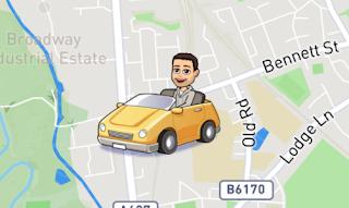Snap Map Actionmoji Car
