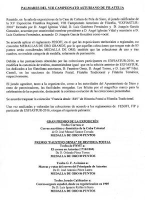 Palmarés EXFIASTUR 2016