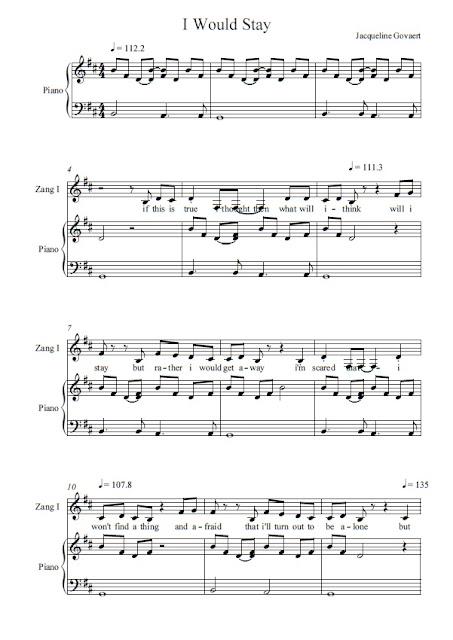 Partitura Piano Jacqueline Govaert