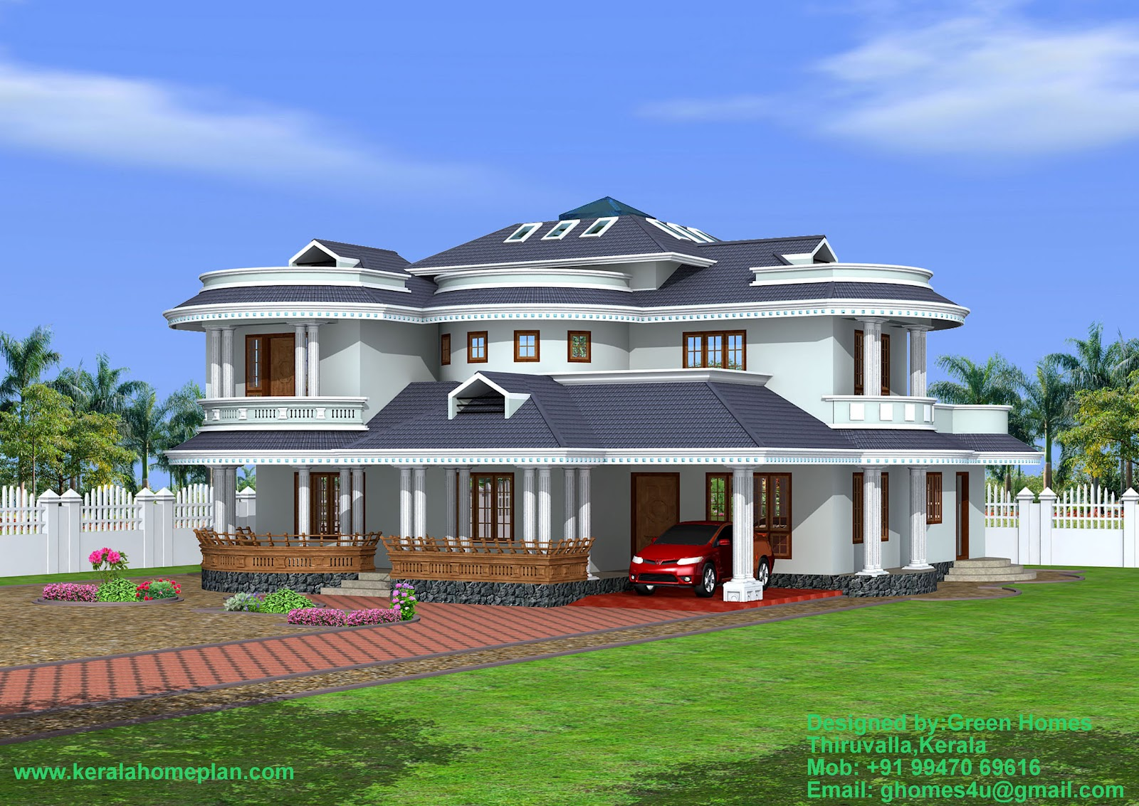 Green Homes Beautiful Kerala Style Home 3350 Sq Feet