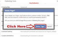 how to delete facebook page on pc