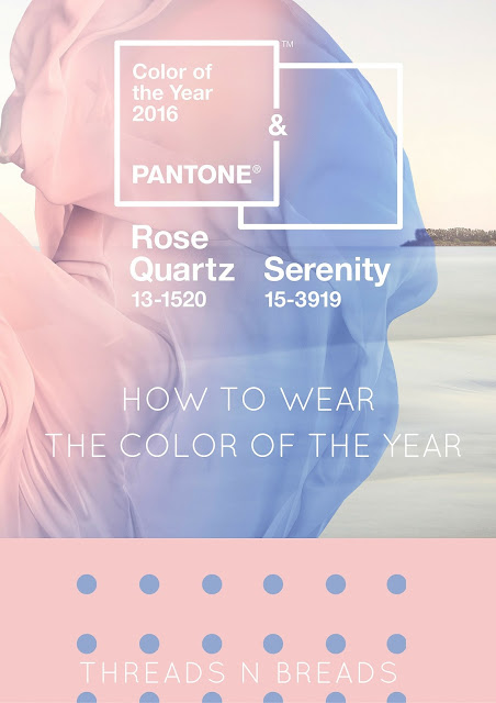 How to wear the color of the year: Rose Quartz & Serentiy