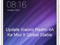 Cara Update Xiaomi Redmi 4A Ke Miui 9 Global Stable (Android Nougat)