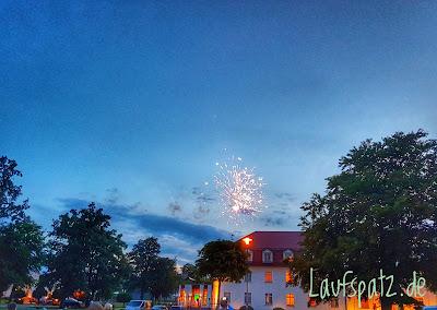 Lausitzer Seenland 100 Marathon Feuerwerk 2017