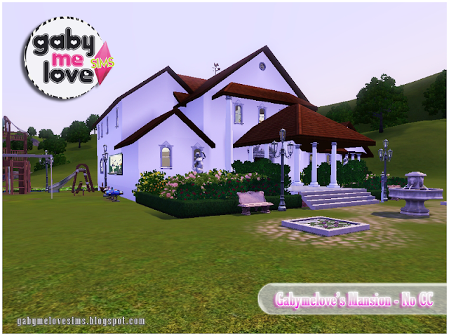 Gabymelove's Mansion |NO CC| ~ Lote Residencial, Sims 3. Vista 2.
