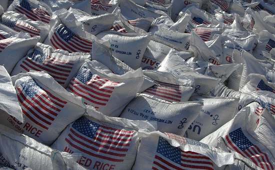 United States emergency relief rice (February 13, 2010)