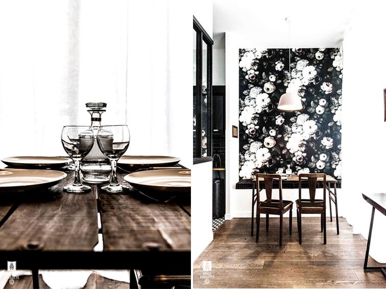 Un appartamento di 55 mq a Parigi firmato Royal Roulotte tavolo pranzo