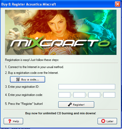 mixcraft 8 trial code