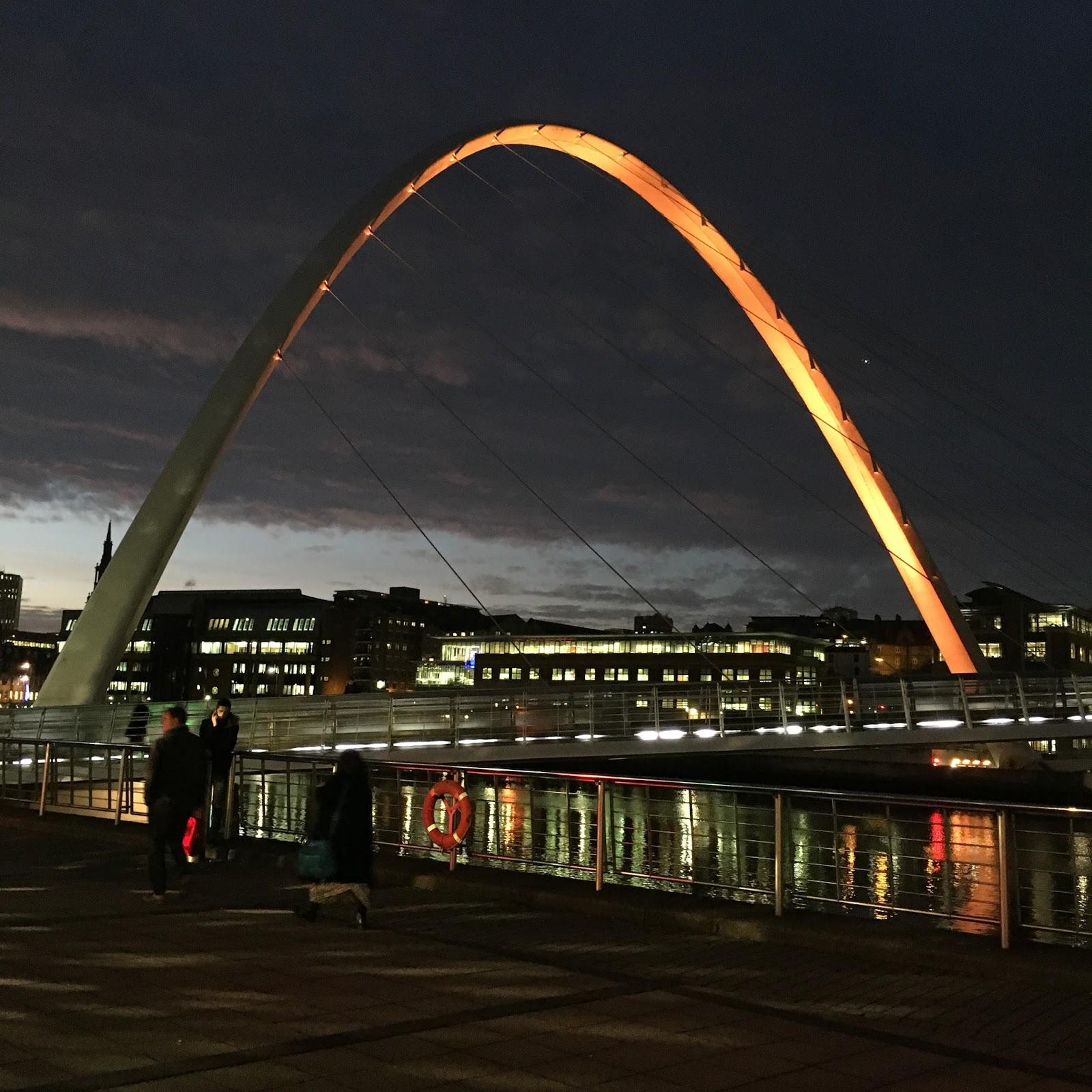 Weekend in Tynemouth, Newcastle, gateshead Milennium Bridge