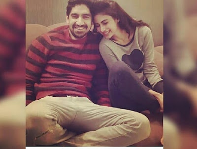 Ayan Mukerji with Mouni Roy