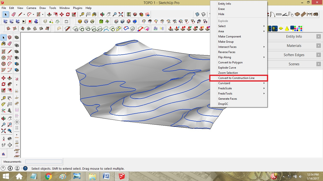 How To Draw Contour Lines And 3 D Topographic Model Using