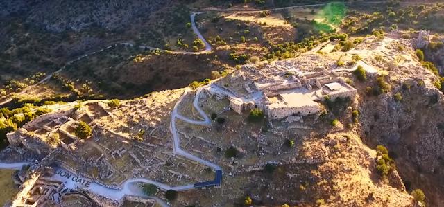 Ταξίδι πάνω από την ιστορία: Ο αρχαιολογικός χώρος των Μυκηνών από ψηλά (βίντεο)