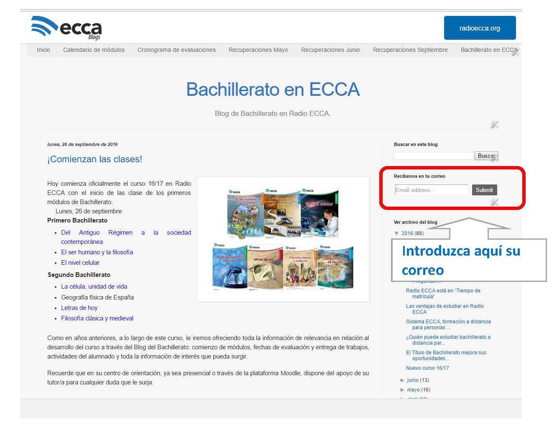Bachillerato en ECCA: 2017