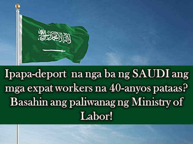 "Rumors are not true. This is the clarification of Ministry of Labor (MOL) and Social Development of the Kingdom of Saudi Arabia regarding the news circulating in some websites and social media that expatriate over 40 years of age will be deported.  In social media and other online sites, there is news circulating that Saudi Arabian government will no longer issue new work visa for expatriate workers above 40-years of age.     Also, expatriate workers who are above 40-years old can no longer renew their iqama and government is planning to deport them.  MOL has denied this rumors.  The ministry said this is a false news story and the government has no plans to take these kinds of the measure at all.     Professor of criminal psychology and head of academic studies at King Fahd Security College Dr. Nasser Ali Arifi said that the main motive behind spreading rumors is to destabilize the economy, spread chaos and harm the relationship between citizens and expatriates.  ""Enemies of the country tend to create false rumors and others spread these without cross-checking the veracity of such news. Spreading rumors with the intention to harm society is punishable by law not only in the Kingdom but all around the world,"" Arifi said.     He said that the ministry issues rules and directives through official websites and any citizen or expatriate can obtain information directly from official news sources or from the Saudi Press Agency.  ©2016 THOUGHTSKOTO"