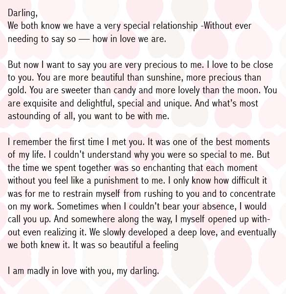 love letter for my girlfriend english
