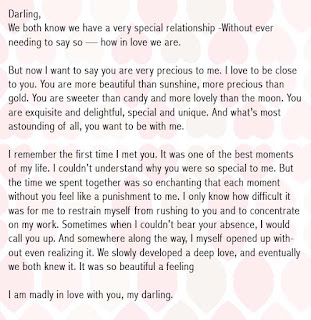 romantic birthday letter for girlfriend