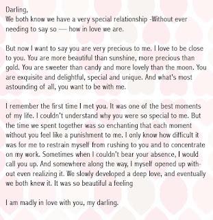 romantic birthday letter for girlfriend