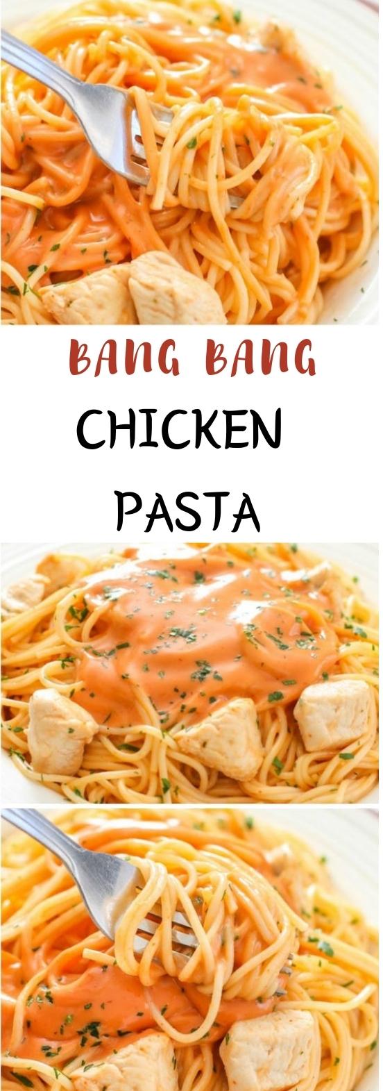 Bang Bang Chicken Pasta #pasta #dinner