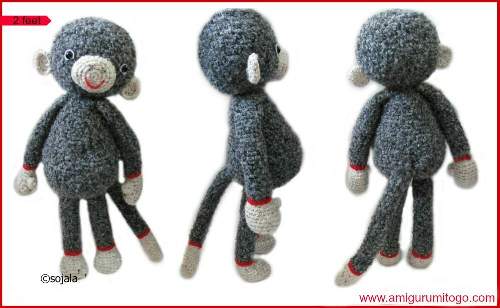 Darcy Large Monkey Free Crochet Pattern Amigurumi To Go